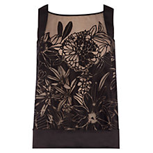 Buy Coast Pallavi Burnout Top, Black Online at johnlewis.com