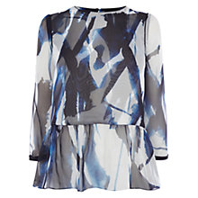 Buy Coast Trinity Print Peplum Top, Multi Online at johnlewis.com