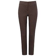 Buy Phase Eight Erica Trellis Jacquard Trousers, Midnight/Tobacco Online at johnlewis.com