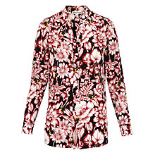 Buy Whistles Floral Bee Print Silk Celia Blouse, Multi Online at johnlewis.com