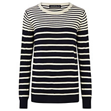 Buy Sugarhill Boutique Deana Star Stripe Jumper, Navy/Cream Online at johnlewis.com