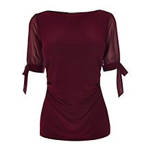 Buy Coast Lima Jersey Top, Merlot Online at johnlewis.com