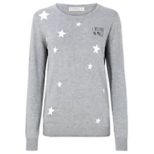 Buy Sugarhill Boutique I Believe In Magic Jumper, Grey Marl Online at johnlewis.com