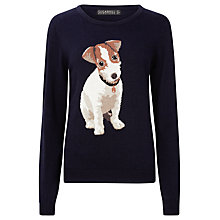 Buy Sugarhill Boutique Bertie Jack Russell Jumper, Navy Online at johnlewis.com