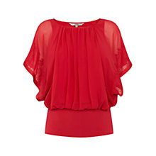 Buy Coast Kalila Calla Top, Red Online at johnlewis.com