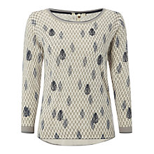 Buy White Stuff Foraging Jumper, Mount Blue Online at johnlewis.com