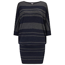 Buy Phase Eight Becca Batwing Dress, Navy/Grey Online at johnlewis.com