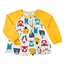 Buy Polarn O. Pyret Baby Animal Faces Tunic Online at johnlewis.com