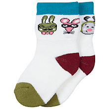 Buy Polarn O. Pyret Baby Animal Socks, White Online at johnlewis.com