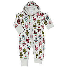 Buy Polarn O. Pyret Baby Rabbit Pramsuit, Grey Online at johnlewis.com