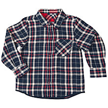 Buy Polarn O. Pyret Boys' Reversible Check Shirt, Blue/Red Online at johnlewis.com