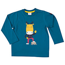 Buy Polarn O. Pyret Baby Moose Top, Blue Online at johnlewis.com