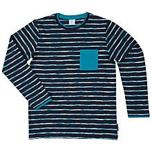 Buy Polarn O. Pyret Boys' Stripe Top, Blue Online at johnlewis.com