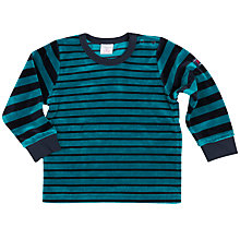 Buy Polarn O. Pyret Baby Striped Velour Top Online at johnlewis.com