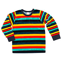 Buy Polarn O. Pyret Children's Striped Velour Top Online at johnlewis.com