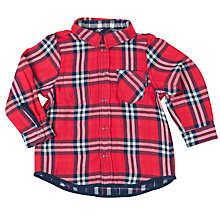 Buy Polarn O. Pyret Baby Check Shirt, Red/Blue Online at johnlewis.com