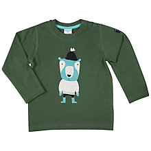 Buy Polarn O. Pyret Baby Bear Top, Green Online at johnlewis.com