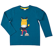Buy Polarn O. Pyret Boys' Moose Top, Blue Online at johnlewis.com