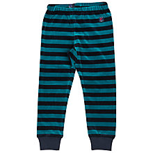 Buy Polarn O. Pyret Children's Striped Velour Trousers Online at johnlewis.com