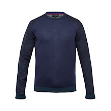 Buy Ted Baker Cambell Round Neck Jumper, Navy Online at johnlewis.com
