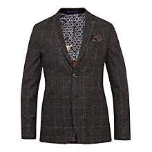 Buy Ted Baker Connery Mouline Check Blazer Jacket, Charcoal Online at johnlewis.com