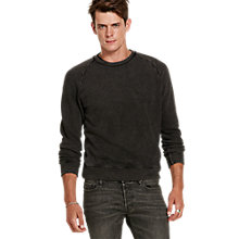 Buy Denim & Supply Ralph Lauren Crew Raglan Sweatshirt, Polo Black Online at johnlewis.com