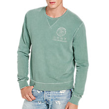Buy Denim & Supply Ralph Lauren Cotton French Terry Sweatshirt, Olive Online at johnlewis.com