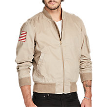 Buy Denim & Supply Ralph Lauren Cotton Chino Bomber Jacket, Old Tan Online at johnlewis.com