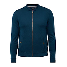 Buy Ted Baker Bruno Quilted Bomber Jacket, Teal Online at johnlewis.com