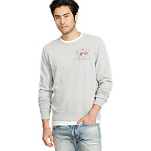 Buy Denim & Supply Ralph Lauren Crew Neck Sweatshirt, Granite Heather Online at johnlewis.com