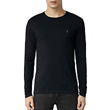 Buy AllSaints Slim Fit Long Sleeve Tonic T-Shirt, Ink Navy Online at johnlewis.com