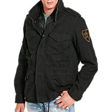 Buy Denim & Supply Ralph Lauren Cotton Field Jacket, Polo Black Online at johnlewis.com