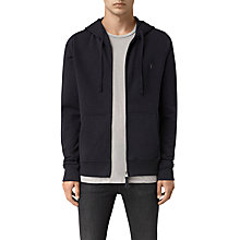 Buy AllSaints Slim Fit Wilde Hoody, Ink Navy Online at johnlewis.com