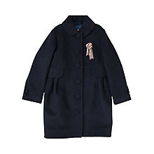 Buy Jigsaw Girls' The Storyteller Coat, Navy Online at johnlewis.com