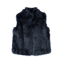 Buy Jigsaw Girls' Fluffy Faux Fur Gilet, Navy Online at johnlewis.com