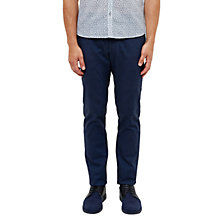 Buy Ted Baker Tommie Mini Design Trousers, Dark Blue Online at johnlewis.com