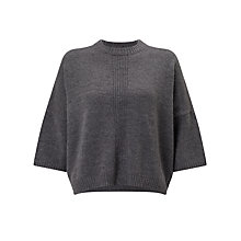 Buy Numph Britania Mohair-Blend Jumper, Grey Melange Online at johnlewis.com