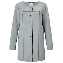 Buy Numph Kornelia Faux Suede Coat, Quarry Online at johnlewis.com