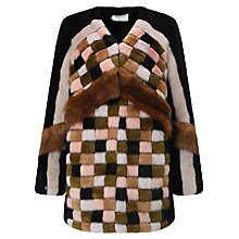 Buy Urbancode Pixton Faux Fur Cardigan, Multi Online at johnlewis.com