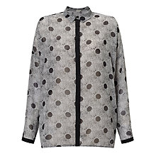 Buy Numph Myrlene Spot Shirt, Grey/Caviar Online at johnlewis.com
