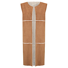 Buy Numph Quintina Faux Shearling Gilet, Toffee Online at johnlewis.com