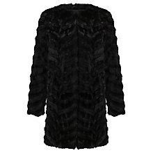 Buy Unreal Fur Dream Catcher Coat, Black Online at johnlewis.com