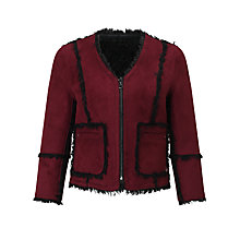 Buy Urbancode Ruby May Reversible Jacket, Burgundy/Black Online at johnlewis.com
