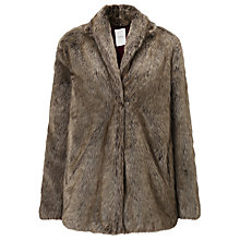 Buy Numph Viglia Faux Fur Coat, Brown Online at johnlewis.com