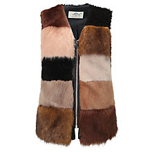 Buy Urbancode Shylo Faux Fur Gilet, Multi Online at johnlewis.com
