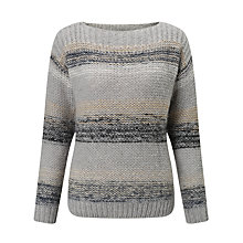 Buy Numph Charlie Stripe Jumper, Grey Melange Online at johnlewis.com