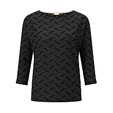 Buy Numph Olethea Patterned Top, Caviar Online at johnlewis.com