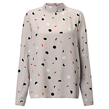 Buy Numph Mirande Blouse, Drizzle Online at johnlewis.com