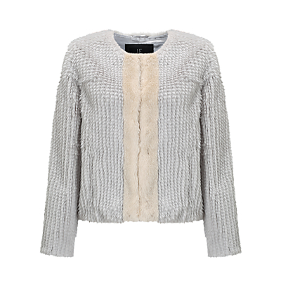 Unreal Fur Classic Faux Fur Jacket, Grey/Champagne