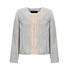Buy Unreal Fur Classic Faux Fur Jacket, Grey/Champagne Online at johnlewis.com